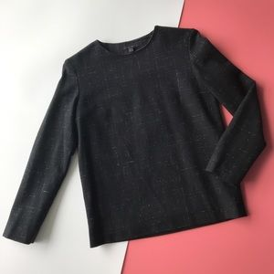 NWOT COS Black Speckled Pull Over Wool Sweater